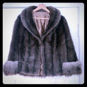 Vintage Sears Regina Glenara Faux Fur Coat